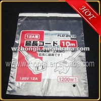 plastic pe packing bag with adhensive tape/sticker band