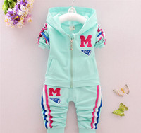 Wholesale European Children Clothing 2-7 Age Ployester Material Sportswear Suits