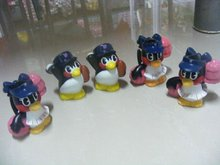 penguins group toy, promotional toy,vinyl pvc design animal sets toy