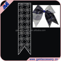 Crystal Rhinestone Heat Transfers for Cheer Bows