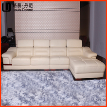 Shenzhen furniture design L shape small corner leather sofa chaise lounges pictures of sofa designs 1502