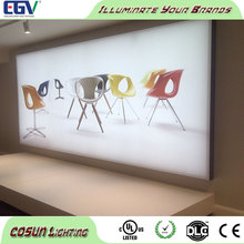 Slim led lightbox love photo frame edge lit aluminum profile with magnetic open type structure