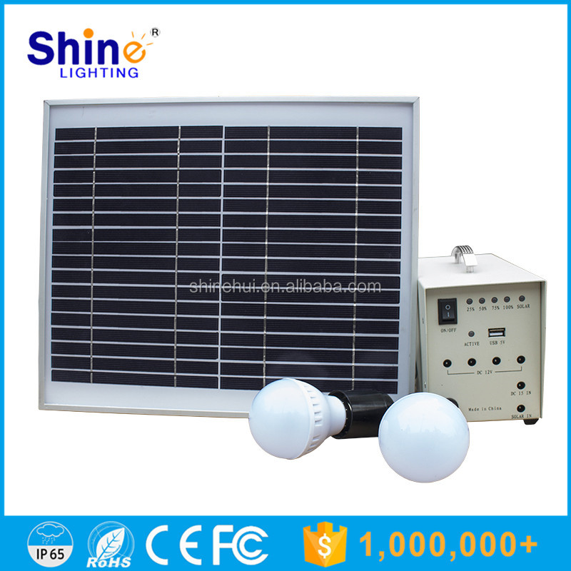 2016 Wholesale High Quality 3W LED light bulb 10W solar panel mini portable solar power generator system with mobile charger