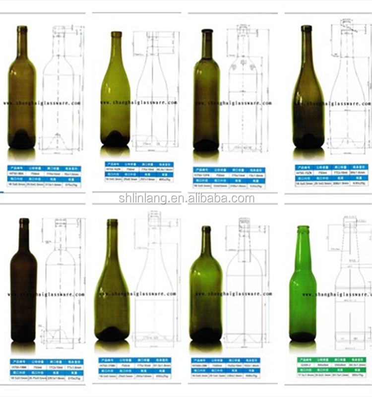 Shanghai Linlang wholesale factory price sample size mini amber glass wine bottle with cork