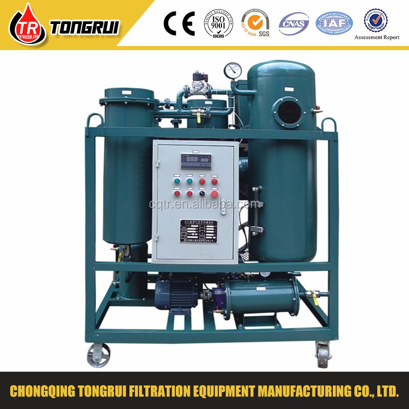 Combustion Gas Turbine Oil Purifier Equipment/used oil decolorizing regeneration unit