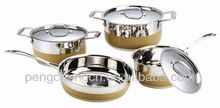 yellow high quality 7pc cookware set