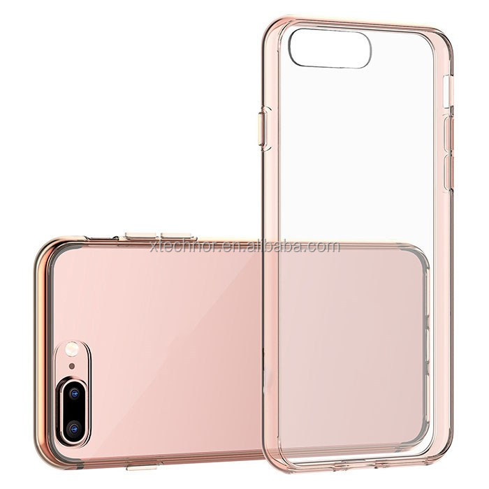 For iPhone 7 plus Case Bumper Cover Shock-Absorption and Anti-Scratch Clear Back for iPhone 7 plus