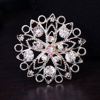 Round Flower Shape Ten Clear Rhinestone And One Of Color brooch SP-XZ-72723 Fashion Wedding Brooches Wholesale for Men Suiits