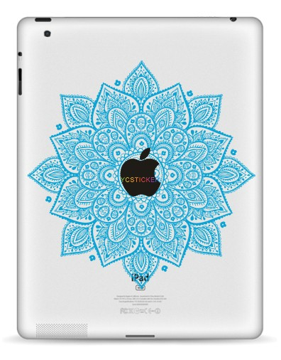 Hot Sell Customized Skin Tablet PC Circle Flower Decorative Stickers for iPad Decal