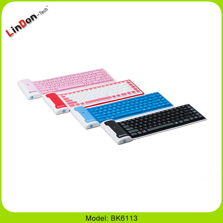 Mini Bluetooth Wireless Silent Silicone Keyboard For Apple Android Windows OS