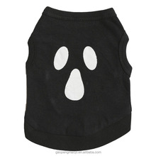 Dog Clothes Christmas Cotton Black Halloween Ghost Pet Shirt