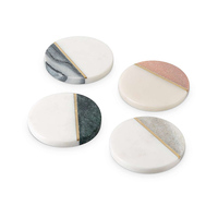 Polished Decorative Marble Coasters, Natural Decorative Marble Coasters@