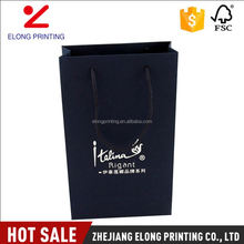 Top grade superior quality luxury black wine hard kraft paper bag