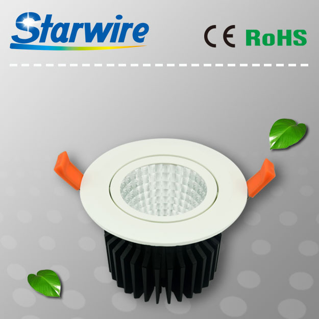 20W high lumens, CE, ROHS approved, COB dimmable led downlight housing