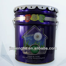 printed painting high quality metal water bucket with handle