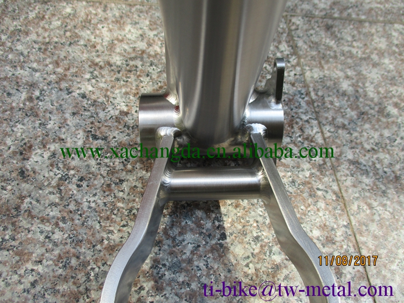 Custom Titanium fat bike fame with PM XACD Ti snow bicycle frame with 142 or 148 boost light Ti bike frame with logo