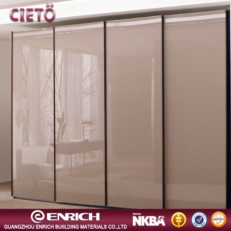 Modern High end market High gloss wardrobe with sliding door