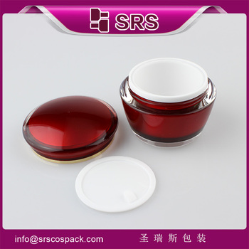 Hot Selling Luxury Red Color Drum Shape Cosmetic empty Jar