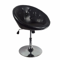 Classical high back chrome swivel leather bar stool/bar chair