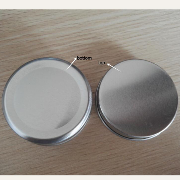 Manufacturers customized round cosmetics aluminum tin pots with screw lid silver rouge box portable soap aluminum cans