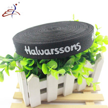 heat transfer polyester webbing sublimation Black name brand straps canvas webbing strap
