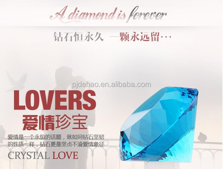 Wedding Decoration and Gifts Aqua K9 Crystal Diamond