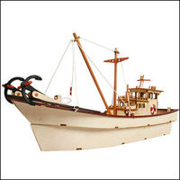 Korea wooden toy Daddy series fishing boat kits