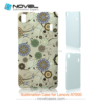 Hot Sale 3D Sublimation Phone Case Cover for Lenovo A7000, DIY Phone Case Cover