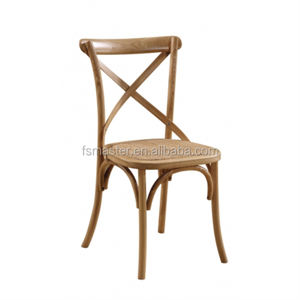 classic wooden rattan seat armless wedding party dining x back chair