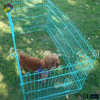 Pet cage with a folding cage foster care out of small dog cage