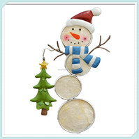 Snowman santa cap and tree decorative christmas stakes