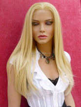 Elegant-wig 24inch natural straight german lace wig, 100 human hair full lace wig top quality