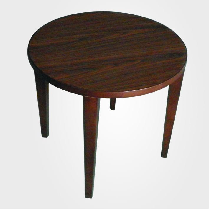 Nieuw ontwerp ronde houten salontafel donkerbruine kleur for Round dark wood coffee table