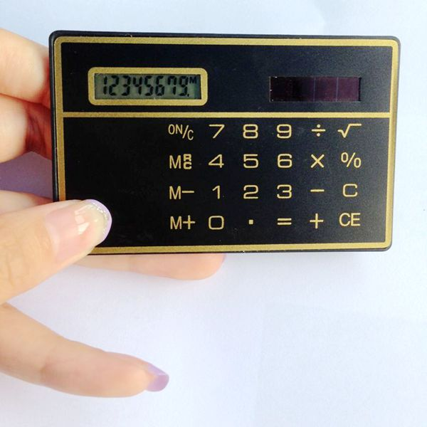 solar pocket calculator, ultra thin card calculator, giveaway calculator/ HLD-807