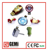 NEW 1pcs USB 2.0 Unique Iron Man Model Memory Stick, 250gb Usb Flash Drive