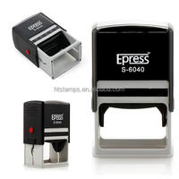 Custom design stamp big size 60x40mm self inking stamps rubber stamps
