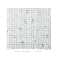 Elegant Crystal glass square mosaic tile with cheap price