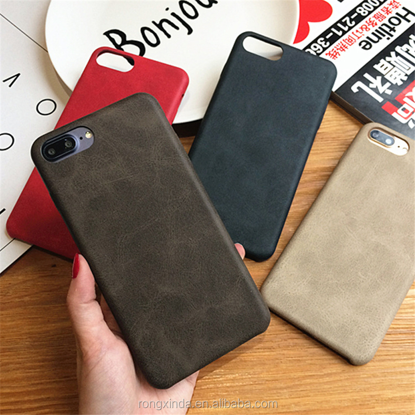 Mobile accessories 2017 customized PU leather case for iPhone 7 Vintage style PU leather case for iphone 7 covers leather mobile