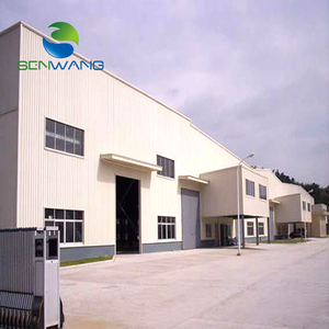 low cost prefab Insulated steel structure warehouse