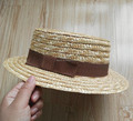 Hot Sale Eco-friendly Natural Wheat Straw Boater Hat