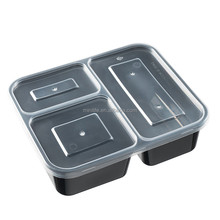 Meal Prep 3 Compartment Lunch Box, Plastic Clamshell Fruit Disposable Pp Hot Food Container
