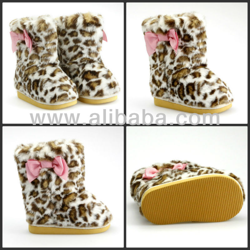High Quality Baby Or Toddler Leopard Boots
