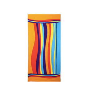 Durable Multi Colour Orange Striped Imprinted Stylish Design Beach Towels On Sale