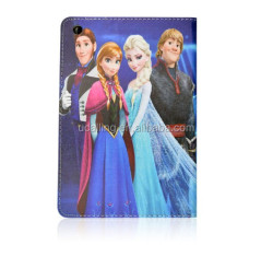 2015 New Arrival Cute Cartoon Frozen Leather Case For iPad Mini 1 2 3