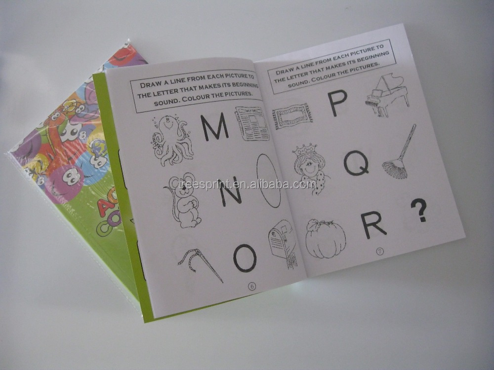 Custom Design Kids Cartoon Activity Book With Offset Printing As Promotion