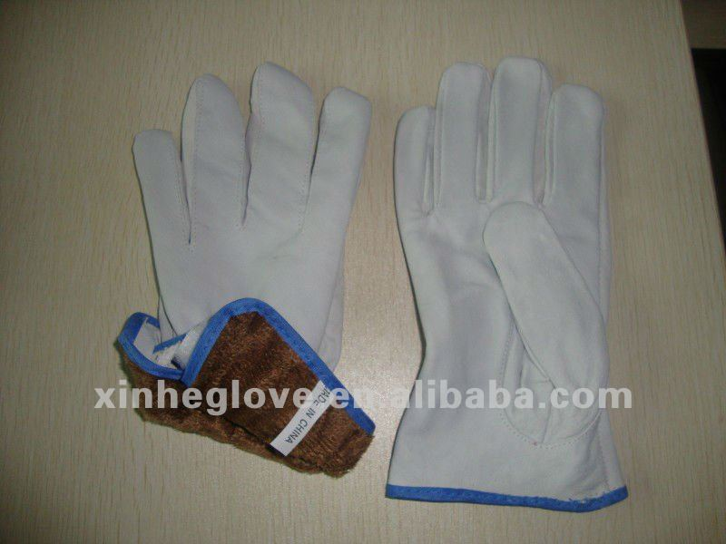 With super soft liner pig leather industrial working gloves