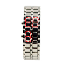 LED Watch Instructions SHARP Lava Style Iron Digital Metal Men Lady Watch LED