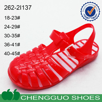 custom made cheap ladies jelly sandals 2015