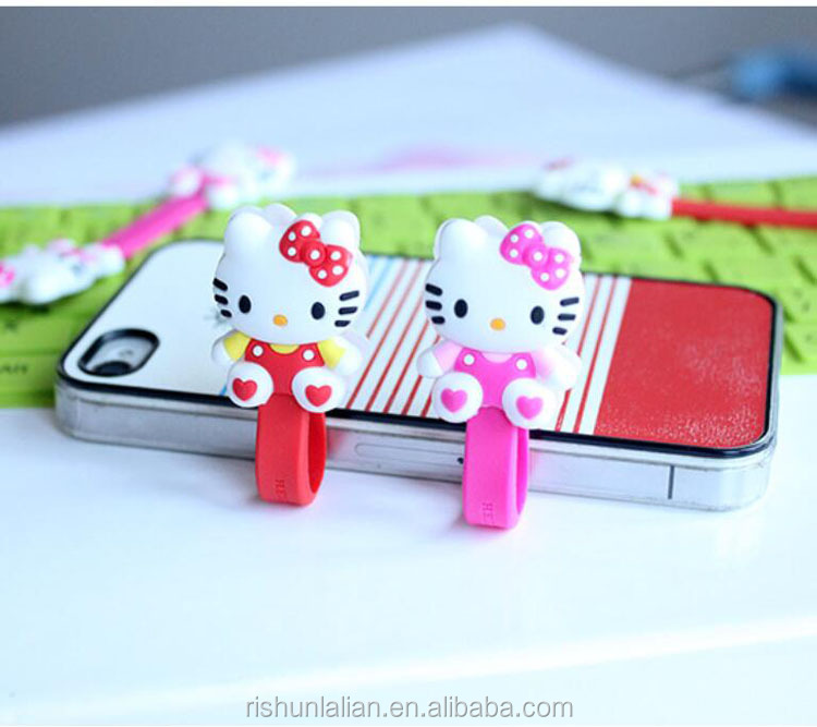 Rubber earphone cable winder Rubber wire organizer Cable Clip Organizer