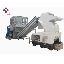 china factory price plastic big pipe single shaft shredder recycling machine with low consumption
